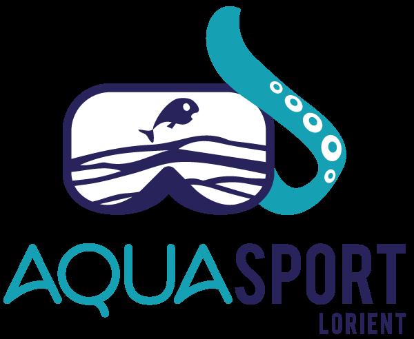 Logo Aquasport en couleurs sur fond transparent